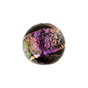 Murano Glass Bead 14mm Black Magento Dichroic Round