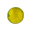 Murano Glass Bead, Peridot Green Disc 24kt Gold Foil 18mm