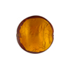 Murano Glass Bead Topaz Disc Gold Foil 18mm
