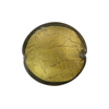 Olivine Gold Foil Murano Glass Lentil Disc 20mm