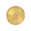Clear Gold Foil Murano Glass Lentil Disc 20mm
