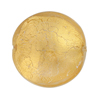 Clear Gold Disc Murano Glass 25mm