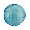 Light Aqua White Gold Murano Glass Disc 25mm