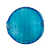 Aqua White Gold Murano Glass Disc 25mm