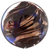 Murano Glass Disc Bead 32mm Cobalt and Aventurina over Black