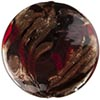Murano Glass Disc Bead 32mm Garnet and Aventurina over Black