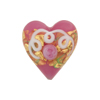 Venetian Bead Wedding Cake Heart 20mm, Pink