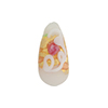 Murano Glass Bead Wedding Cake Teardrop 20x10 White