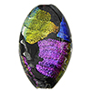 Dichroic Oval Black Multi Colors Dichroic 38mm