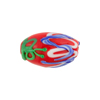 Red/Green Blue Lampwork Decorative Oval