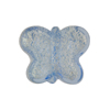 Light Blue White Gold Butterfly Murano Glass Bead 18mm
