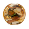 Topaz Bed of Roses Disc 25mm Venetian Glass Bead