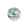 Murano Glass Bead Bed of Roses Round 14mm Celeste Blue