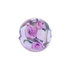 Murano Glass Bead Bed of Roses Round 14mm Alessandrite