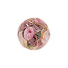 Murano Glass Bead Bed of Roses Round 14mm Pink