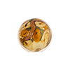 Murano Glass Bead Bed of Roses Round 14mm Topaz
