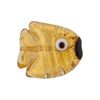 Clear Gold Foil Fish Flat 20mm