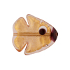 Rose Pink Gold Foil Fish Flat 20mm