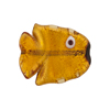 Topaz Gold Foil Fish Flat 20mm