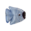 Blue Silver Foil Fish Flat 20mm