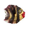 Black Puffy Fish 24kt Gold Foil Venetian Bead Black Eyes