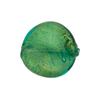 Verde Marino Gold Murano Glass Twisted Leaf, 20mm x 18mm