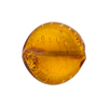 Topaz Gold Murano Glass Twisted Leaf, 20mm x 18mm