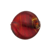 Red Gold Murano Glass Twisted Leaf, 20mm x 18mm