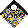 Murano Glass Curved Diagonal Pendant 62mm Abstract Circles