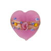 Pink Fiorato Heart Aventurina Band 20mm Murano Glass Bead