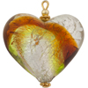 Peridot Topaz Pendant Heart Puffy 30mm Silver