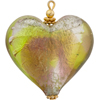 Peridot Amethyst Pendant Heart Puffy 30mm Silver