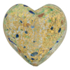 Aquamarine Aventurina 24kt Gold Foil Speckles Heart 30mm Venetian Glass