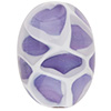 Viola, White Honeycomb Oval Murano Glass Bead 25x16mm