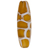 Topaz Honeycomb Oval Murano Glass Bead 40x10mm