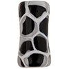 Black,White Honeycomb Tube Murano Glass Bead 25x12mm