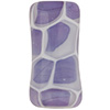 Viola, White Honeycomb Tube Murano Glass Bead 25x12mm