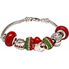 Here Comes Santa Stocking & Chimney European Sterling Silver Charm Bracelet
