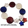 Red White Blue Coins/Stars Patriortic Bracelet Kit