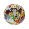 Venetian Bead Klimt Disc 25mm Gold Foil Black Base