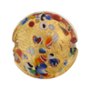 Venetian Bead Klimt Disc 25mm Gold Foil Clear Base