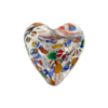 Venetian Bead Klimt Heart 20mm Puffy Silver Foil