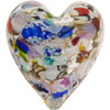 Venetian Bead KLIMT Large Heart 40mm Silver Multi