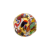 Gold Klimt Murano Glass Bead, Round 16mm