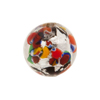 Silver Klimt Murano Glass Bead, Black Base Round 18mm