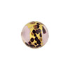 Lilac La Crima Gold Foil Black Splashes Round 14mm, Murano Glass Bead