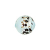 Turquoise La Crima Black Splashes Round 14mm, Murano Glass Bead