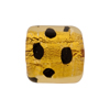 Murano Glass Bead Leopard Rectangle 18mm Gold Foil Light Topaz