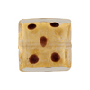 Leopard Squares 20mm Clear/Chocolate, Murano Glass Bead