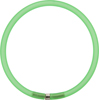 4mm Rubber Tube Necklace 17 Inches, Green